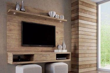 Home Modular Rack Suspenso + Painel Nature com LED 180cm