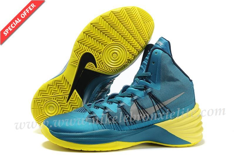 Teal � Authentic 613958-301 Nike Hyperdunk 2013 XDR Tropical Teal/Sonic  Yellow
