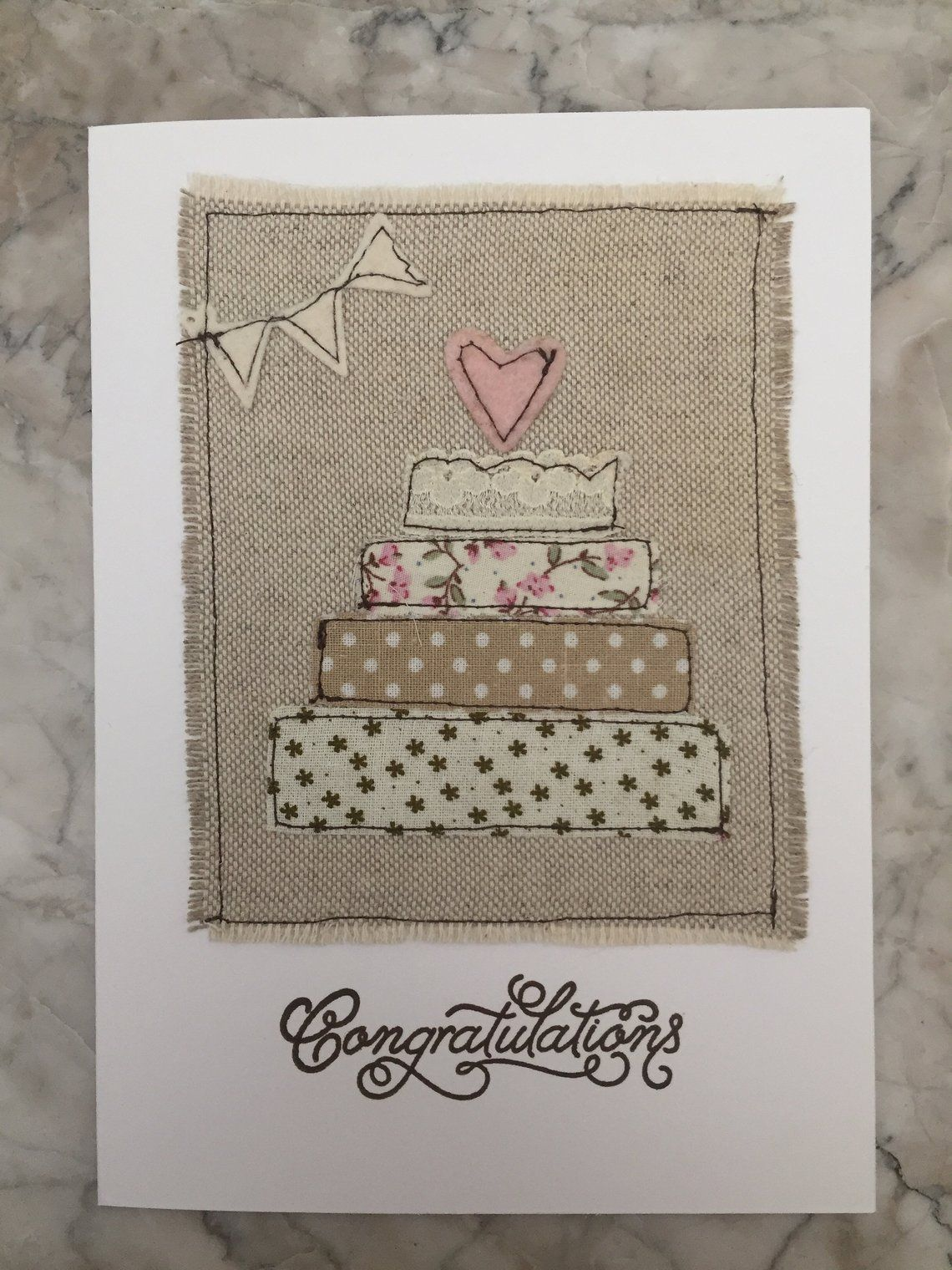 Wedding Card Stitched Can Be Personalised With Images