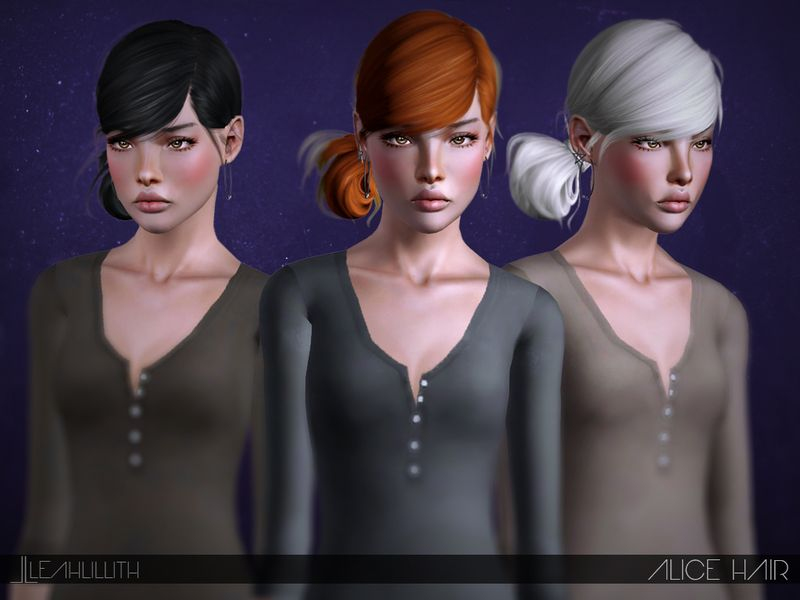 Alice Hair Found In Tsr Category Female Sims 3 Hairstyles
