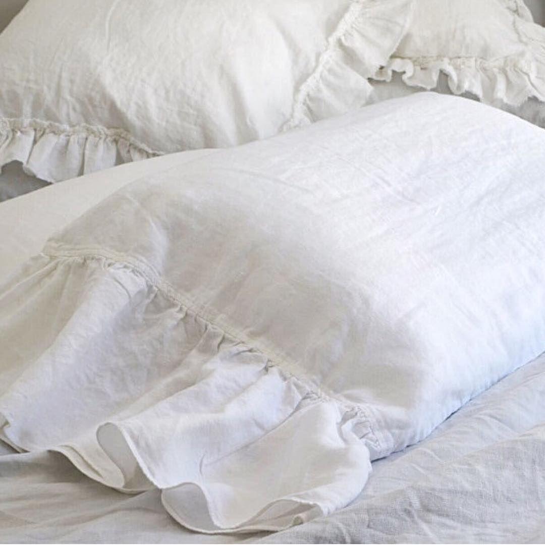 Bettwäsche Weiß Rüschen Perkal Bettw Sche Vizela Baumwolle Wei