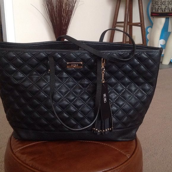 Easter Bcbg Black Tote Bag Beautiful With Gold Hardware Bags Totes