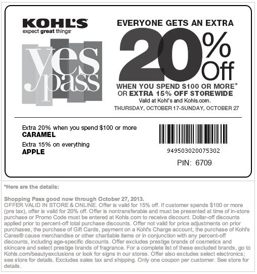 Kohl S 15 20 Off Printable Coupon Kohls Coupons Kohls Printable Coupons Coupon Apps