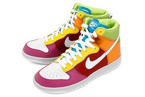 Nike Dunk Hi, Bring on Rainbow Bright   Nike, Nike fashion