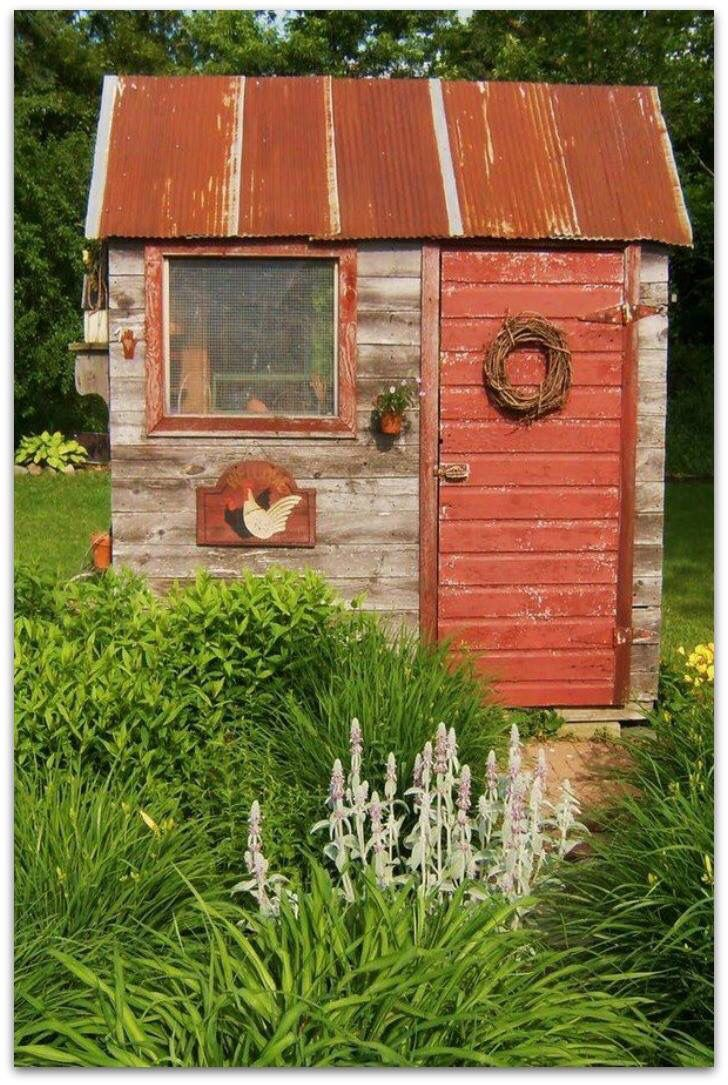 Red garden shed   Sheds   Pinterest   Gardens, Yards and Garden ideas