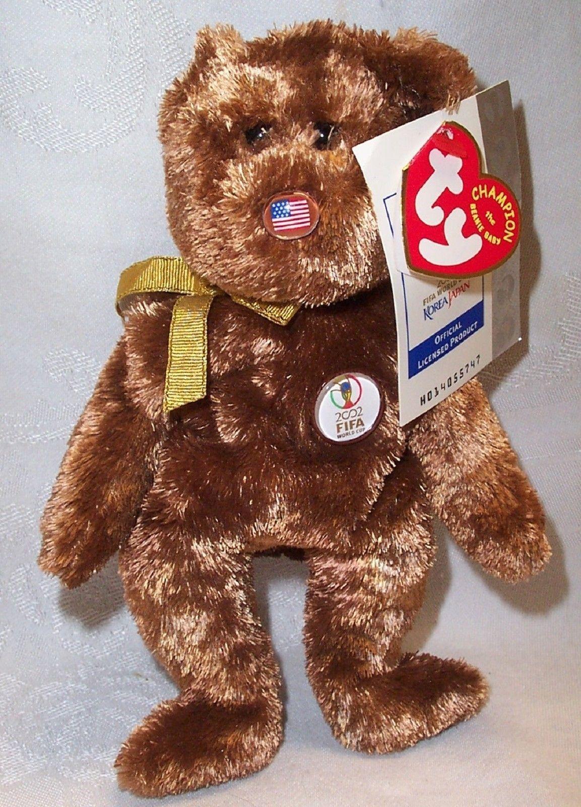 e2efe6170da Ty Beanie Baby Bear United States Champion 2002 FIFA World Cup ...