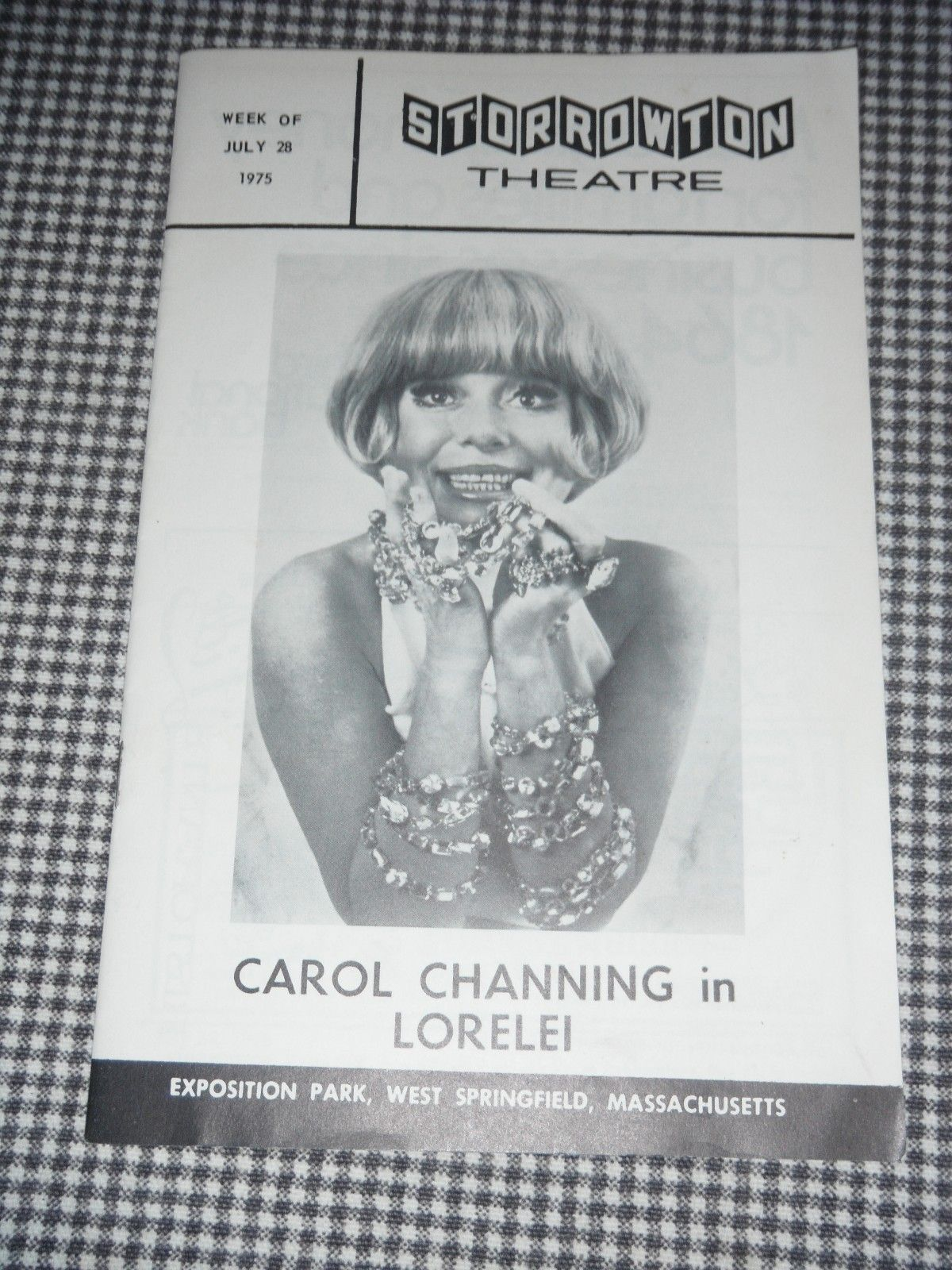 Storrowton Theatre Playbill type show program Carol ...