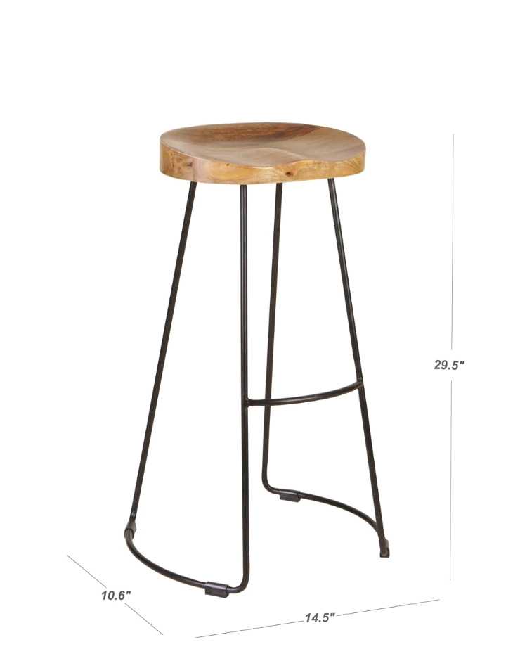 Astonishing Mango Wood Metal Frenzy Large Stool In 2019 Wood Sizes Caraccident5 Cool Chair Designs And Ideas Caraccident5Info