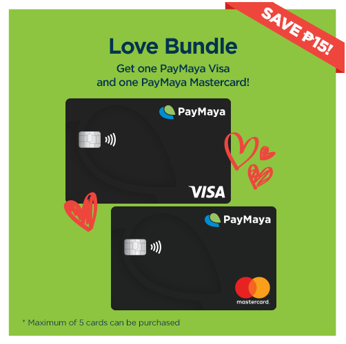 Paymaya Love Bundle 2pcs Free Money Hack Get Gift Cards Prepaid Card
