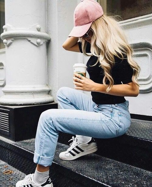 All About That 3 Stripe Life Outfits With Hats Cap Outfits For Women Cap Outfit