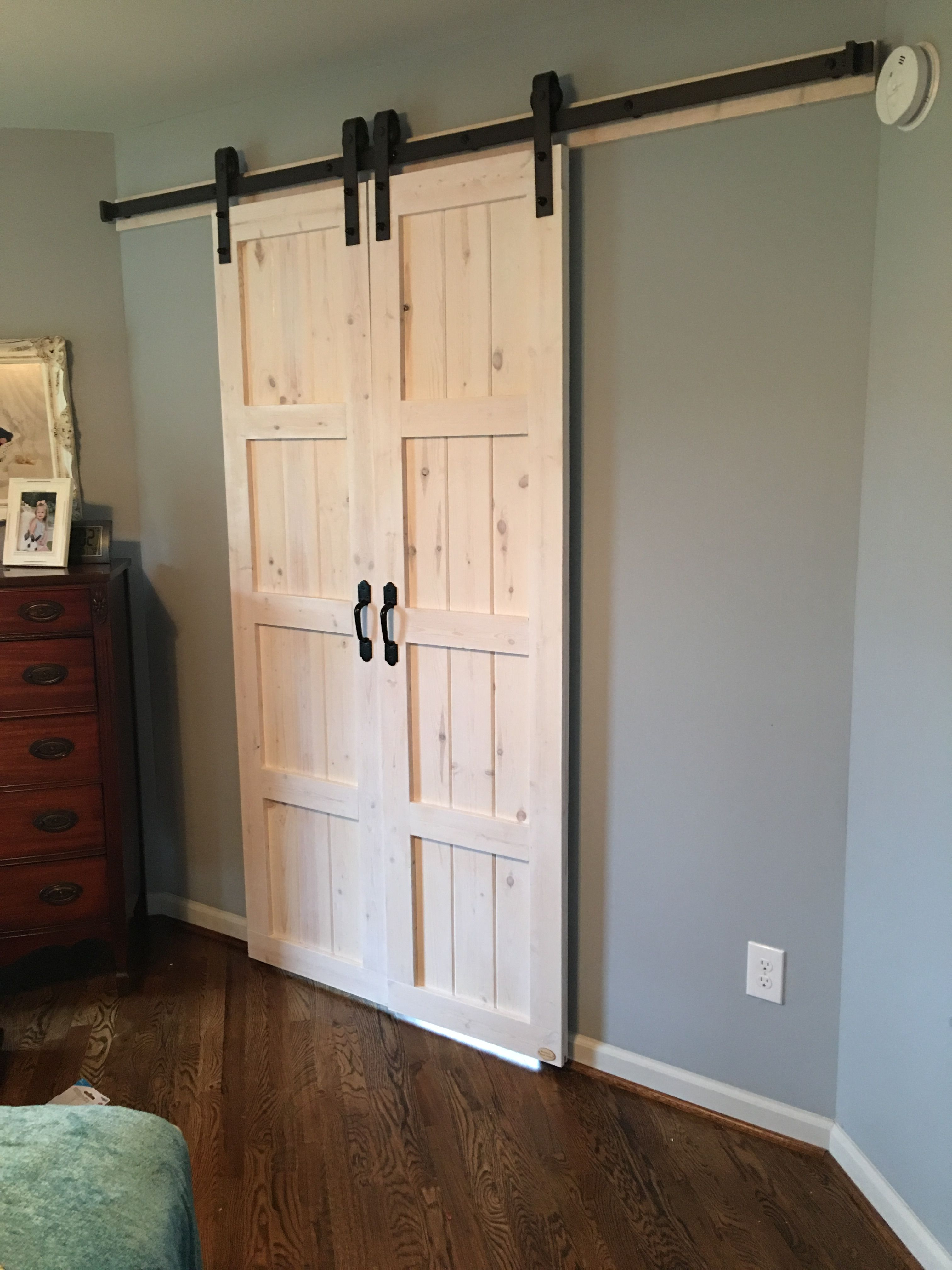 Whitewashed Barn Door Reclaimed Wood