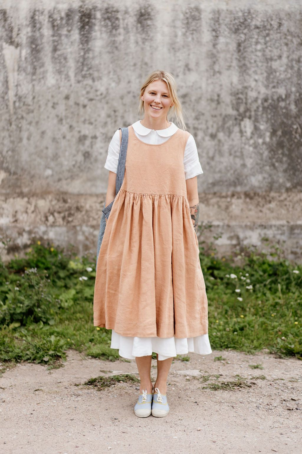 Classic Dress And Smock Dress Combo Classic Dress Boho Summer Outfits Layered Summer Outfits [ 1536 x 1024 Pixel ]
