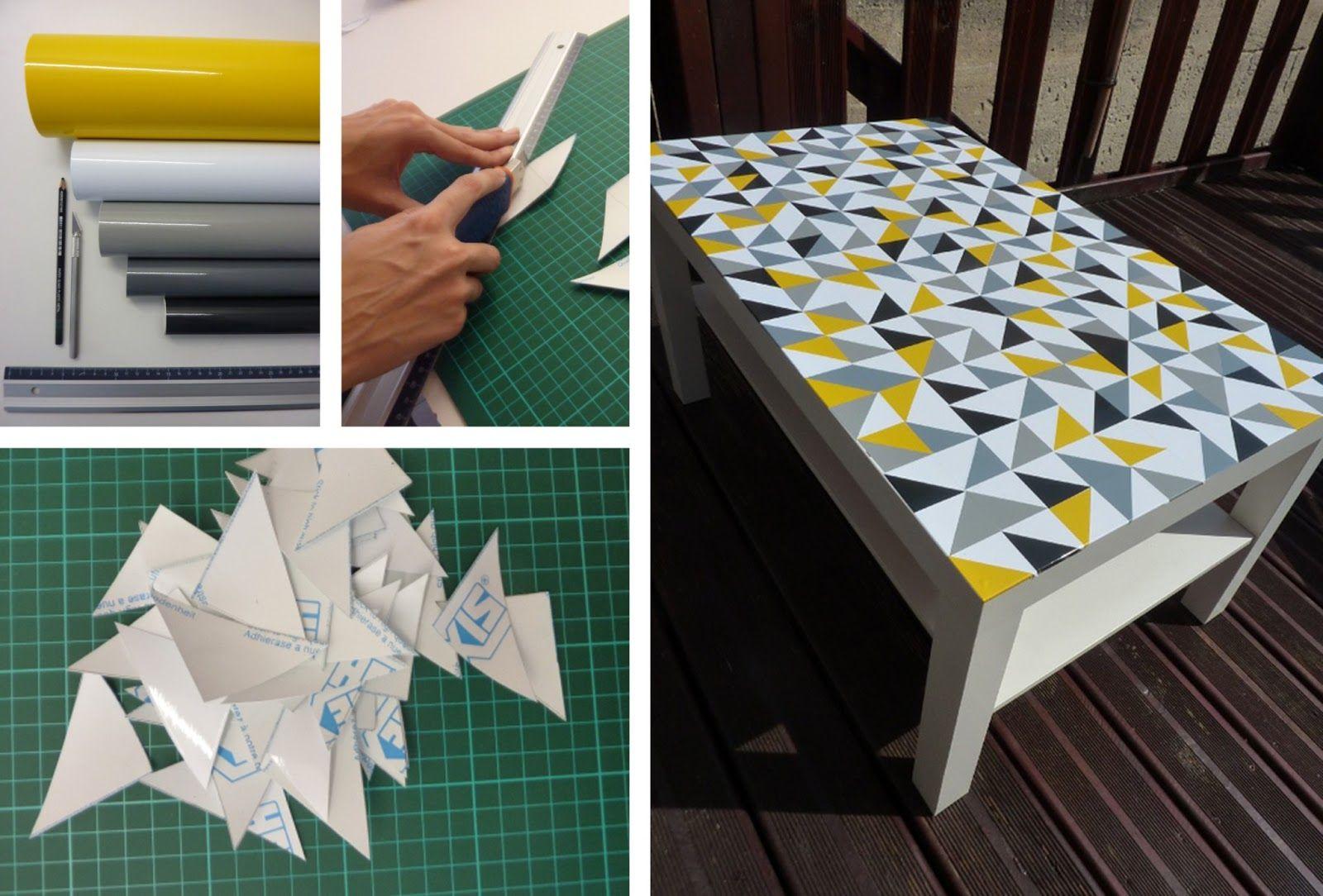 Ikea Hacker - Decora tu mesa lack con vinilos recortados | Decorar ...