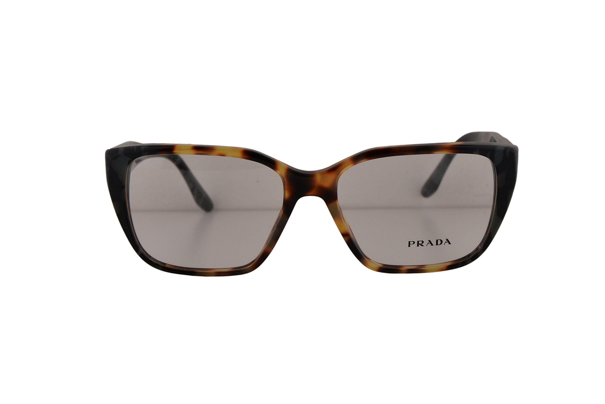 6e9ce223fc0 Prada PR08TV Eyeglasses 53-16-140 Havana Gray U6M1O1 VPR08T For Women (FRAME