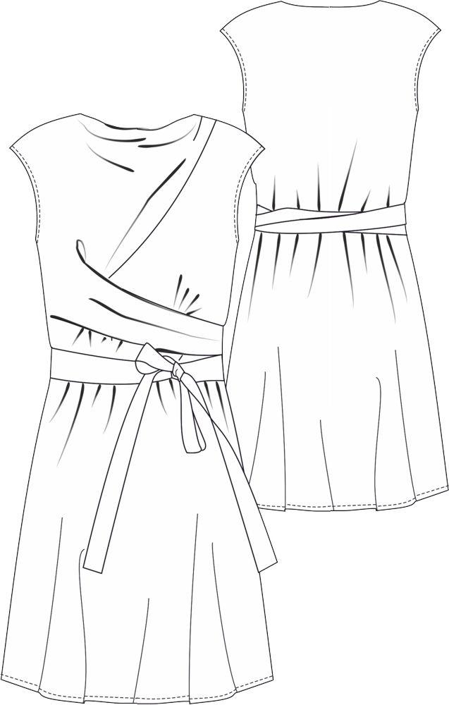 Schnittmuster Wickelkleid Marie paßt sich jeder Figur perfekt an #wickelkleidmuster