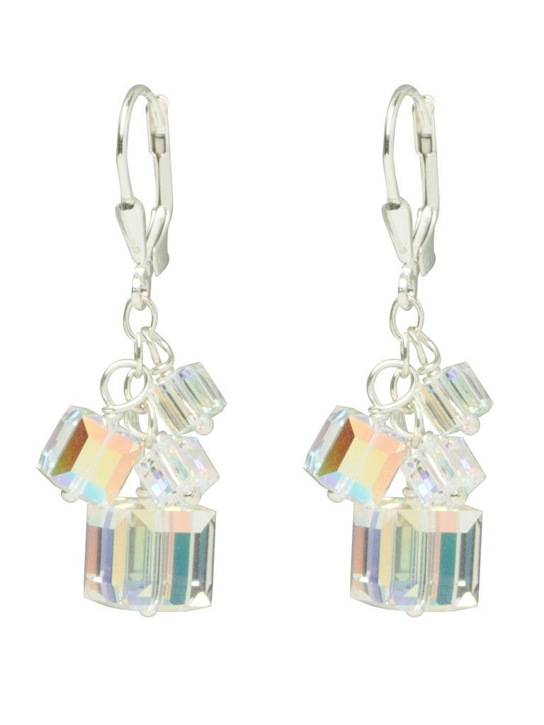 ab swarovski crystal cube earrings | jewelry design inspirations