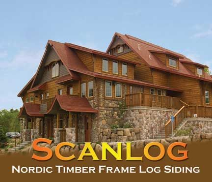 Scanlog Norway Hewn Log Siding Wood Siding Rustic House