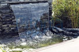 Garten steinmauer wasserfall  Garten - Wasserfall Mauer Naturstein | Ideen rund ums Haus | Pinterest