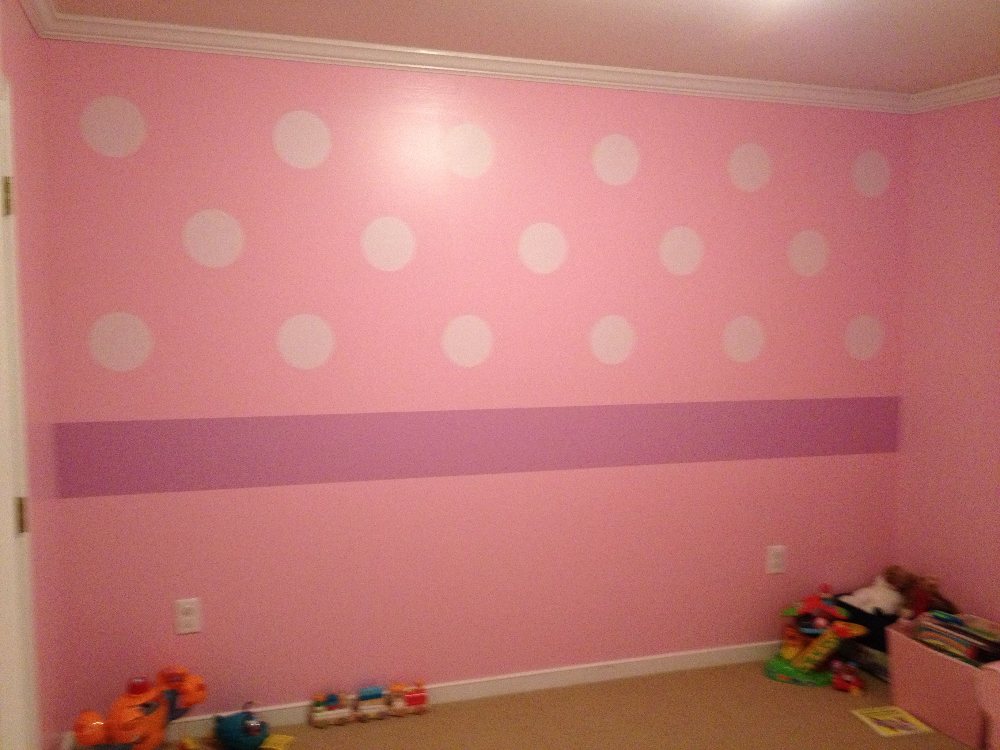 Minnie Mouse Bedroom Wallpaper Finished Minnie Mouse Room Minnie Mouse Bed Room Pinterest