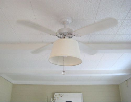 Update an old fan on the cheap with a chic shade to makeover your update an old fan on the cheap with a chic shade to makeover your ceiling fan aloadofball Images