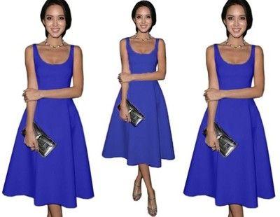 Kobieca Sukienka Midi Rozkloszowana Blog New P318 5054833462 Oficjalne Archiwum Allegro Fashion Dresses Formal Dresses