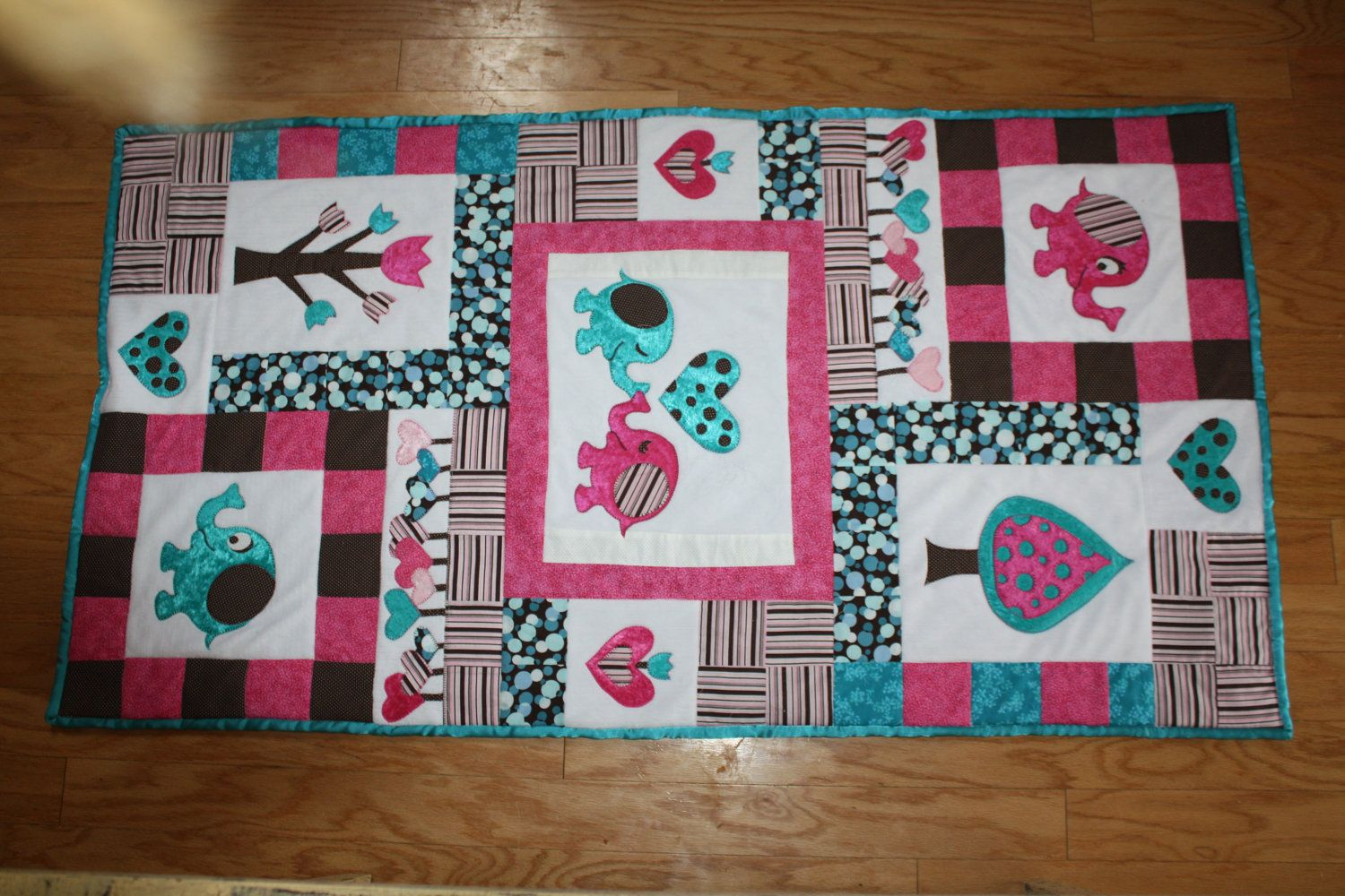 Elephant Quilt for girls by bethsoucy on Etsy, $140.00