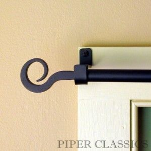 Wrought Iron Curtain Rod Cortineros Cortinas Casitas