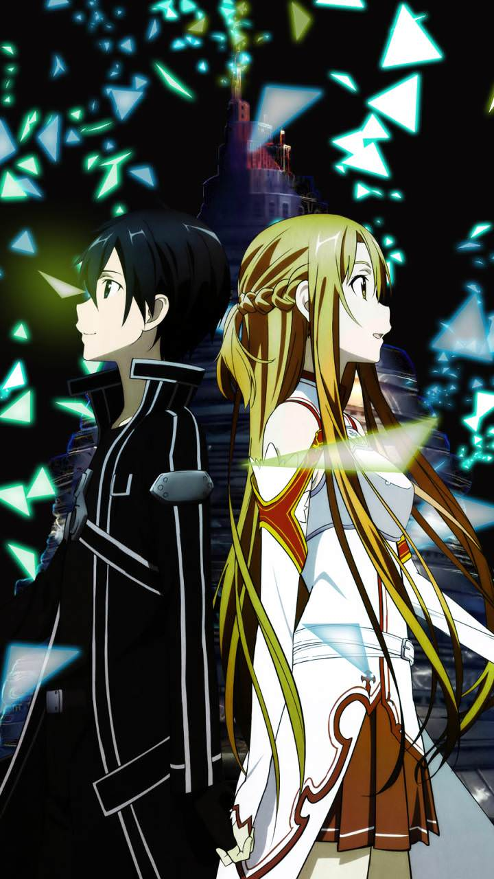 Asuna and kirito from sword art online