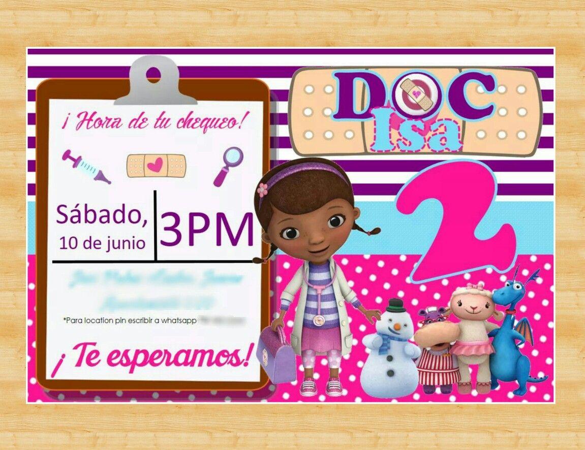 Doc Mcstuffins Birthday Party Invitation Invitación De