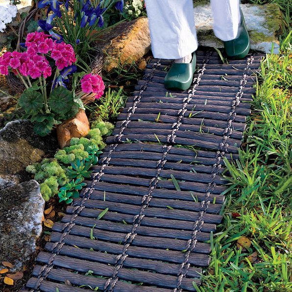 Use Our Wood Look Rubber Pathways To Create An Instant Walkway With Old Style Charm This Mat Looks Like A Rope Bridge