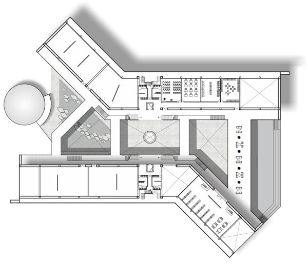 Museum Of Science And Technology Museum Interior Museum Plan Hospital Architecture