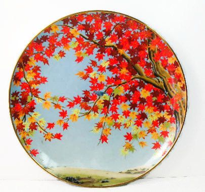 Decorative Plate- Franklin Mint Japan- Autumn Leaves- 1970s Wall Hanging  sc 1 st  Pinterest & Franklin Mint Japan Vintage Decorative Plate | Walls and Room