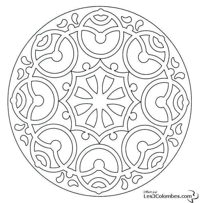 Coloriage Mandala 43 Coloriage En Ligne Gratuit Pour Enfant Ausmalbilder Ausmalen Bilder