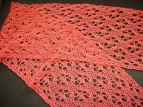 Knitting Lace Patterns For Beginners : Poppy lace scarf free pattern beginner level crafts