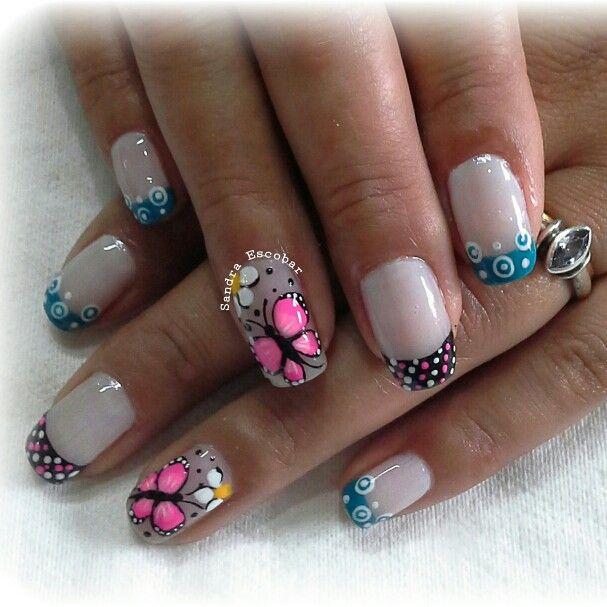 Mariposa dise os en tus u as pinterest nail - Disenos de unas con mariposas faciles ...