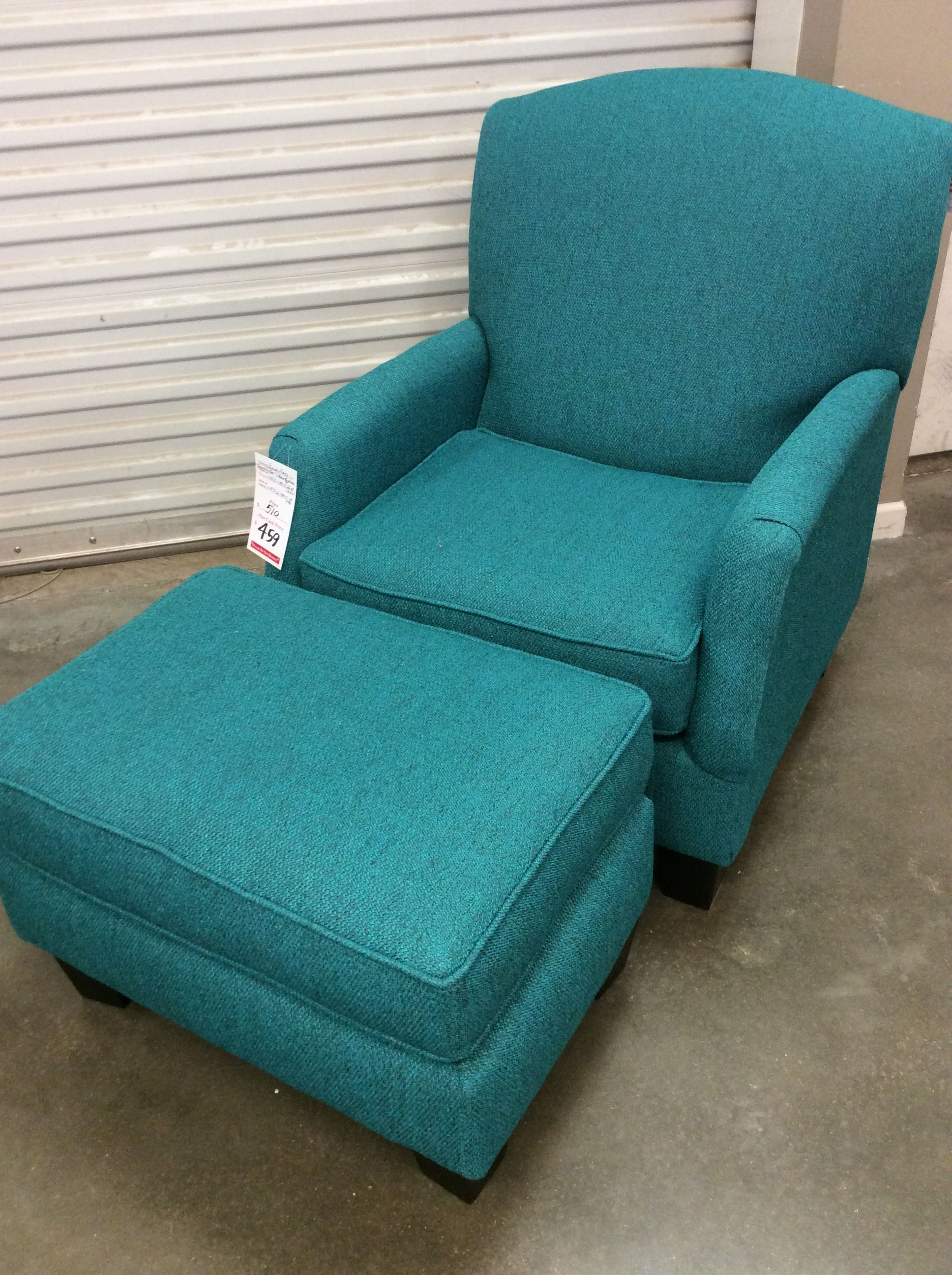 The Turquoise Chairs America Stationary Chair With Ottoman Would