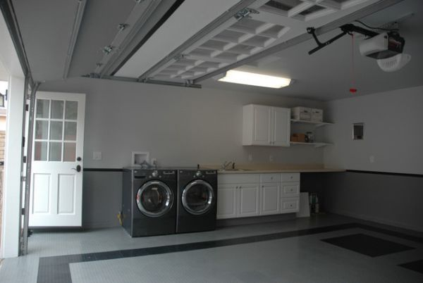 How To Convert A Garage Into A Living Space Garage Laundry Garage Laundry Rooms Laundry Room Storage Shelves