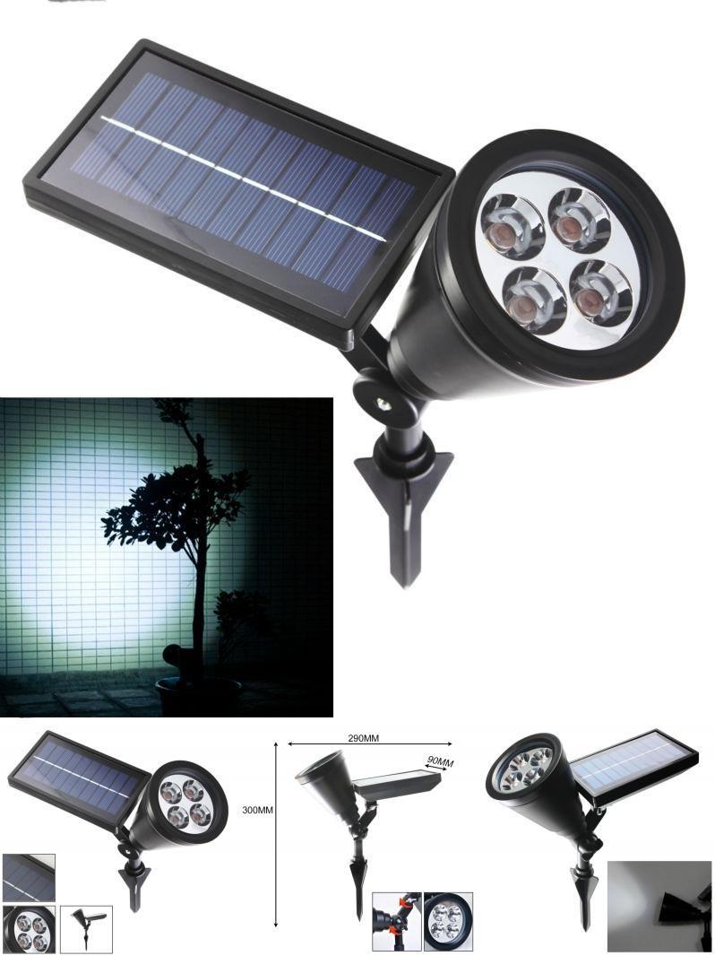 Solar Power Spot Lights LED RGB Garden Outdoor Path Landscape Wall Lamp 4LEDs
