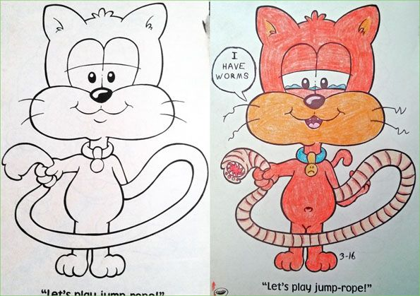 Coloring Book Pages Turned Morbid Coloring Books Kids Coloring Books Corrupt Coloring Book