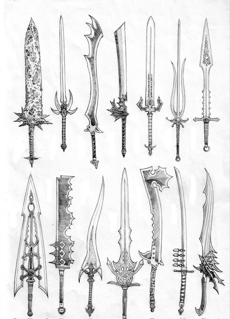 Swords of Pantheron II. by anoccomir; more sword ideas