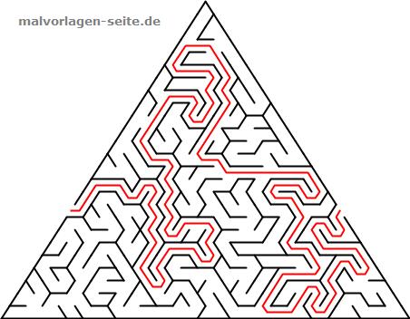 Labyrinthe Irrgarten Fur Kinder Dreiecke Labyrinthe Fur Kinder Ausmalbilder Zum Ausdrucken Malvorlagen Fur Kinder