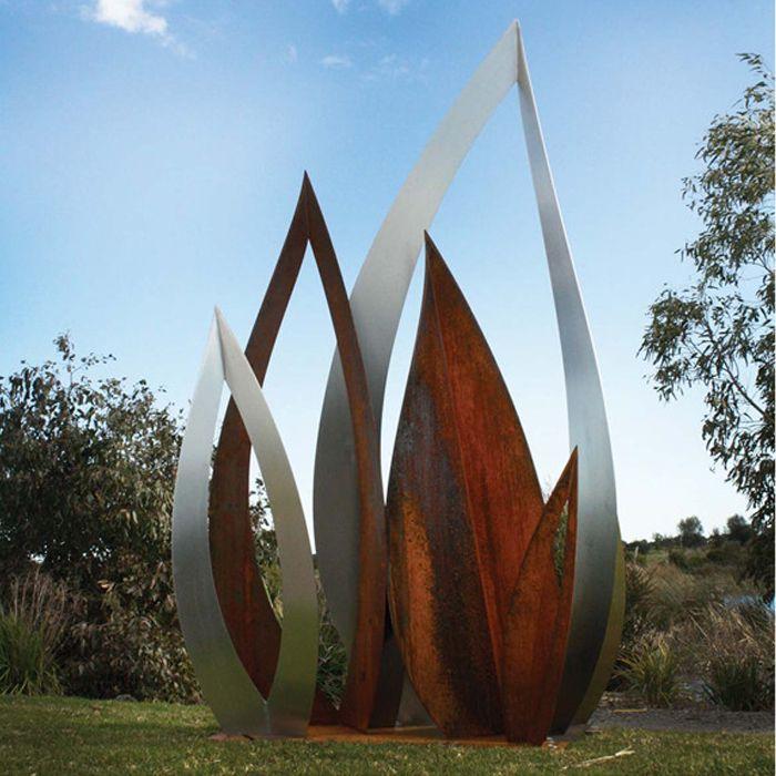 Wholesale Outdoor Metal Garden Art Corten Steel Leaf ...
