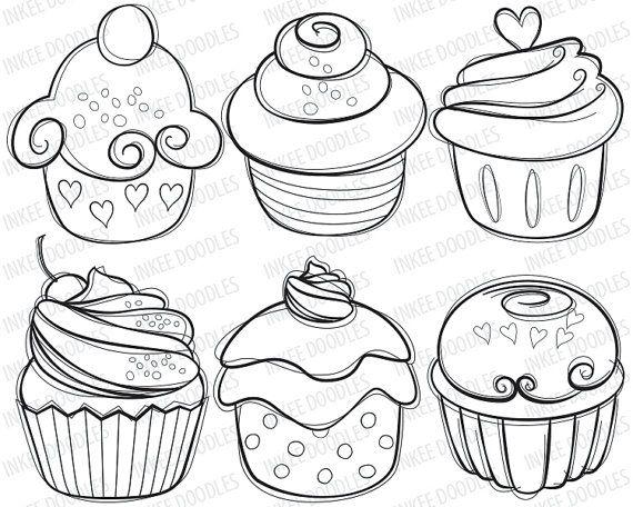 Afficher l 39 image d 39 origine illustrations bullet journal - Dessin cupcake ...