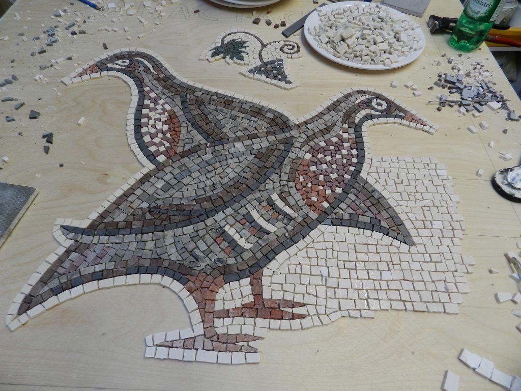 mosaic partridges_work in progress. | Mosaik DIY | Pinterest ...