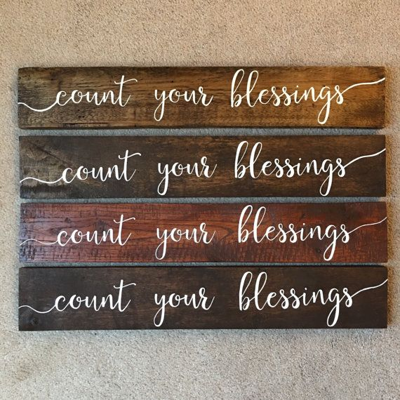 Count Your Blessings Sign   Hand Painted Sign   Rustic Sign   Unt Blackboard  Unt Blackboard