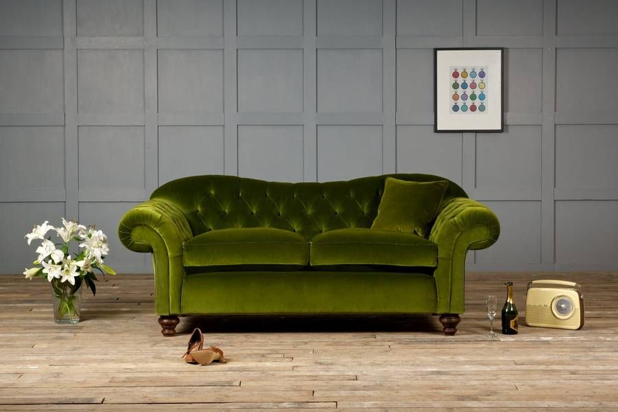 A Chesterfield Sofa Doesn T Have To Be Square And Boxy Our Old Bessie