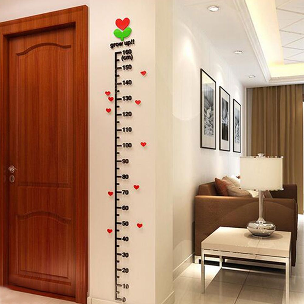 Childrens Height Ruler Growth Hanging Tooth Boy Girl Bedroom Living Room Decoration Wall-Mounted Measuring Ruler Movable Height