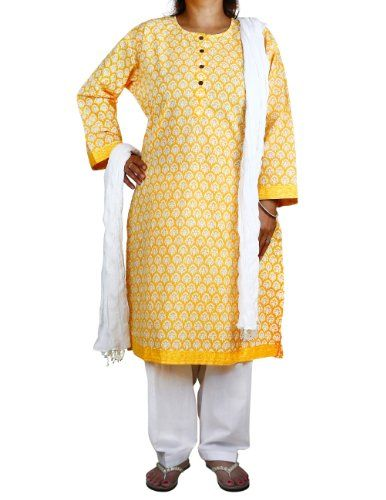 Yellow Kameez White Salwar Dupatta Indian Fashion for Women Size XL ShalinIndia,http://www.amazon.com/dp/B00DXZIFF6/ref=cm_sw_r_pi_dp_kim-rb1YTBM6DVST