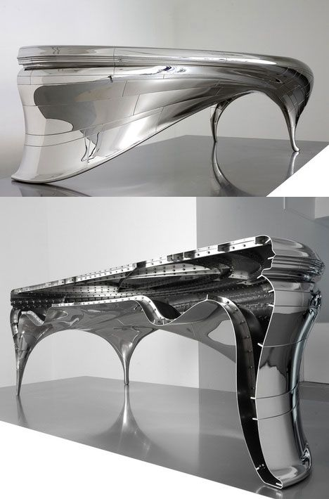 Charming Polished Steel Lectori Salutem Desk By Jeroen Verhoeven. When The Work Is  Viewed From Certain Ideas