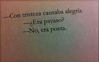 Todo un poeta.